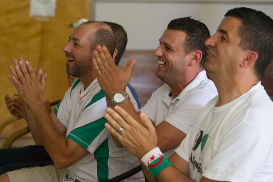 Algeria had more of the chances in the first half, much to the delight of the Algeria fans. Photo: Douglas Zimmerman, Courtesy
