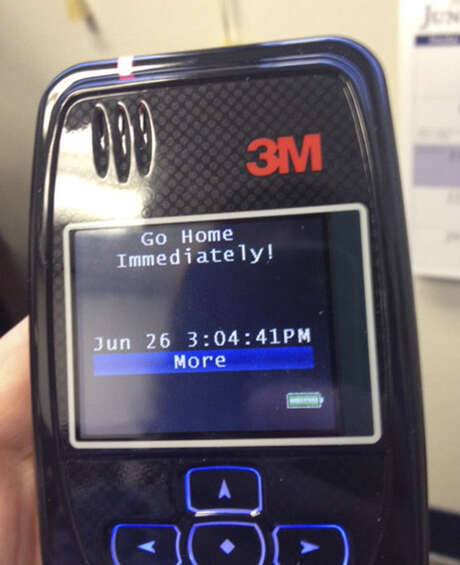 Marsha McLane, head of Texas' Office of Violent Sex Offender Management, spent five days trying to fool this new GPS monitor. She failed. Photo: Photo Courtesy Marsha McLane