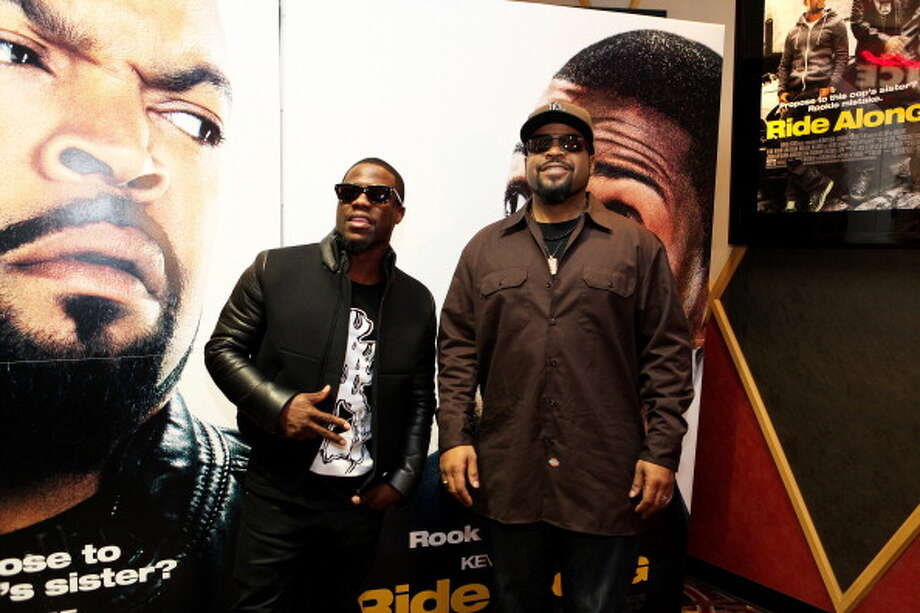 "Kevin Hart and rapper Ice Cube at the Chicago screening of their film ""Ride Along.""  None of the six tendencies. Photo: Raymond Boyd, Getty Images / 2014 Raymond Boyd"