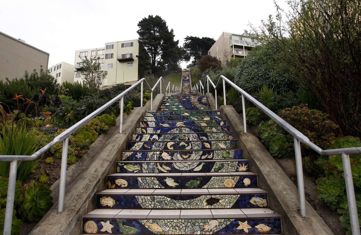 Take the stairs: If walking the hills isn't enough for you, consider taking a staircase tour. Make it a point to climb the city's prettiest staircases. (You can find a bunch of them included here.) And don't forget to take in the view from the top.