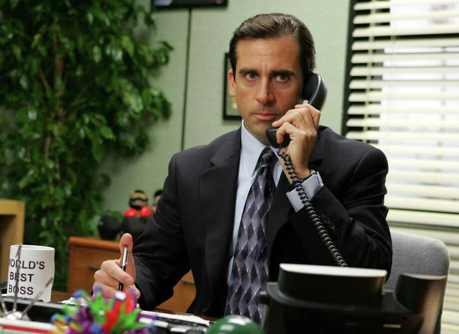 "THE OFFICE -- NBC Series -- ""Performance Review"" -- Pictured: Steve Carell as Michael Scott  Photo: Justin Lubin, Getty/AP Entertainment / handout"