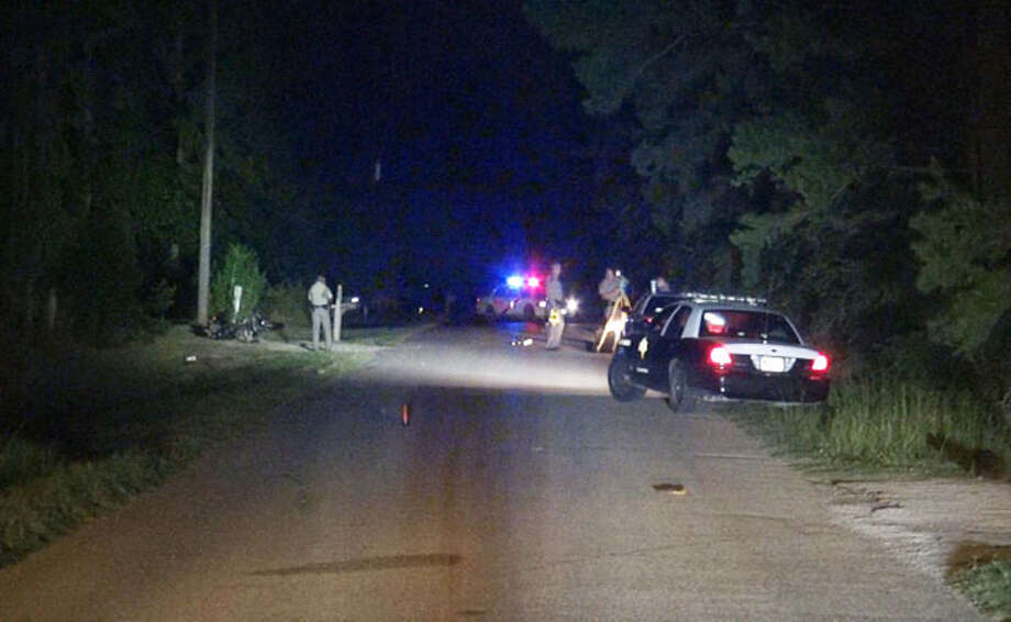 One man is dead and another may face charges in a deadly motorcycle race about 8 p.m. Monday on Old Humble Pipeline Road near FM 1314 in Montgomery County. Read more at Montgomery County Police Reporter. Photo: Scott Engle / Montgomery County Police Reporter