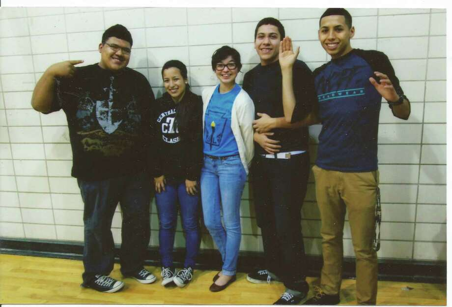 The five friends pose at the same spot shortly before graduating from high school. Come fall, Martinez will be attending Texas A&M Corpus Christi and plans to major in kinesiology, Ibarra will major in business at Palo Alto College, Hernandez will major in psychology at the University of Texas San Antonio, Garcia will attend St. Philip's College and eventually to transfer to Texas State University and Fernandez will be enlisting in the Marines where he hopes to further his education. Photo: Courtesy, Fernandez, Reader Submission