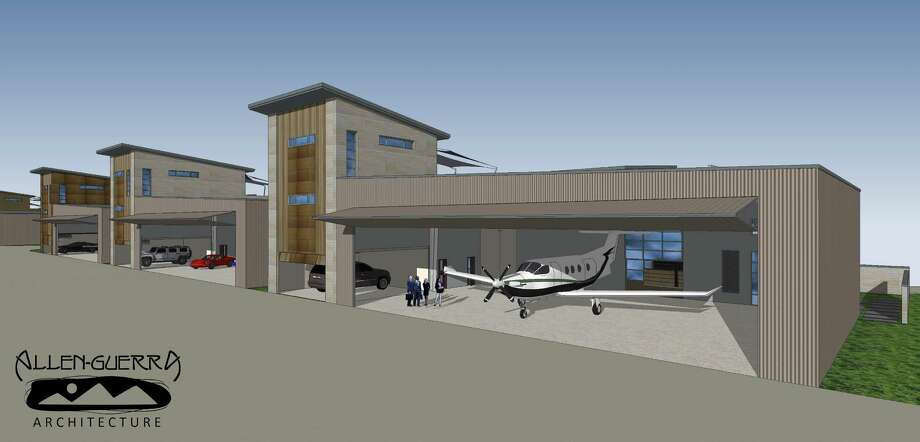 Project provides home for pilots planes houston chronicle for Aircraft hanger designs