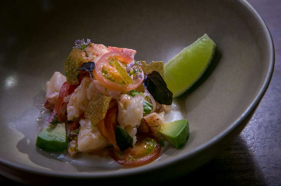 The lobster ceviche ($17) at 1760 in San Francisco features tropical leanings like coconut, pineapple and kaffir lime. Photo: John Storey, Special To The Chronicle