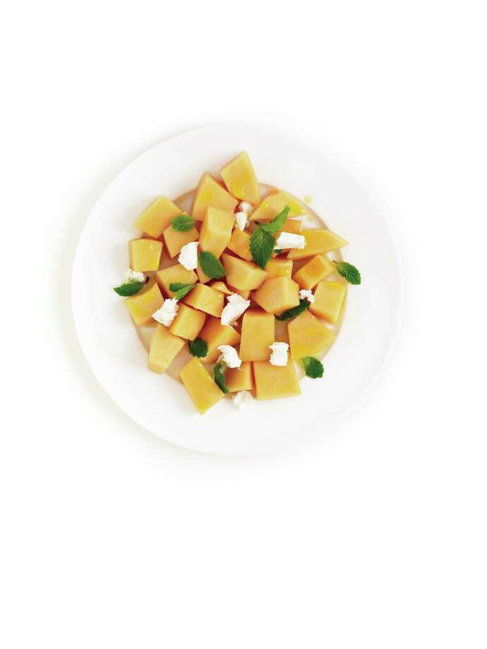 Good Housekeeping recipe for Cantaloupe Goat Cheese Salad. Photo: Kate Mathis