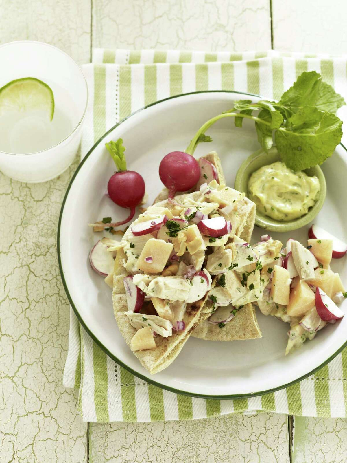 Good Housekeeping recipe for Curried Chicken Pitas.