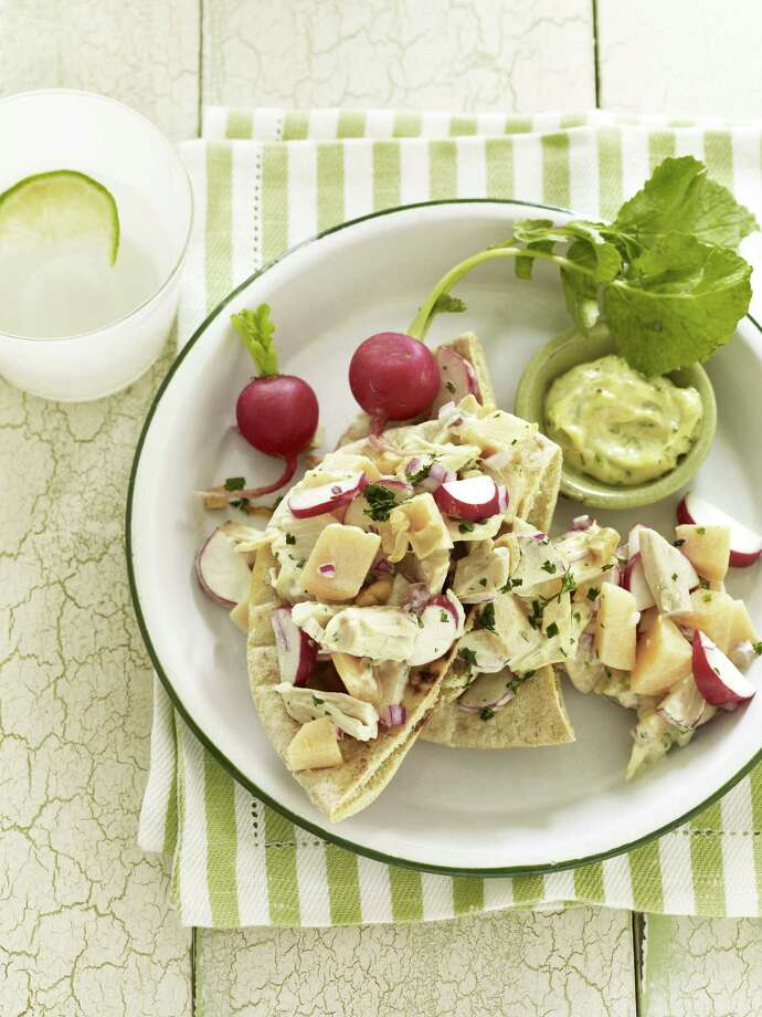 Good Housekeeping recipe for Curried Chicken Pitas. Photo: Kate Mathis