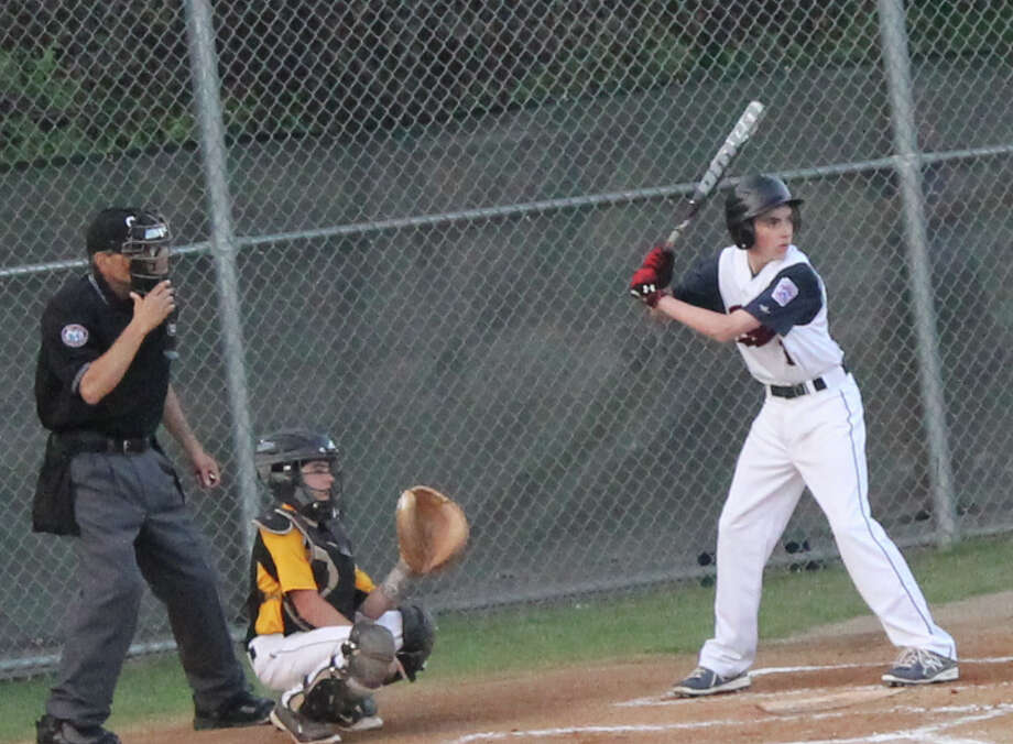Fairfield National Little League all-star Michael Murphy at bat on Monday, June 30 in a District 2 pool play game at Unity Park in Trumbull. Fairfield defeated the Trumbull American League all-stars 5-2 to improve to 3-0 in the tournament. A win on Thursday against Bridgeport North End would send the Nationals to the four-team double-elimination tournament July 7-12 at Unity Park. Photo: Danny Atkinson / Fairfield Citizen