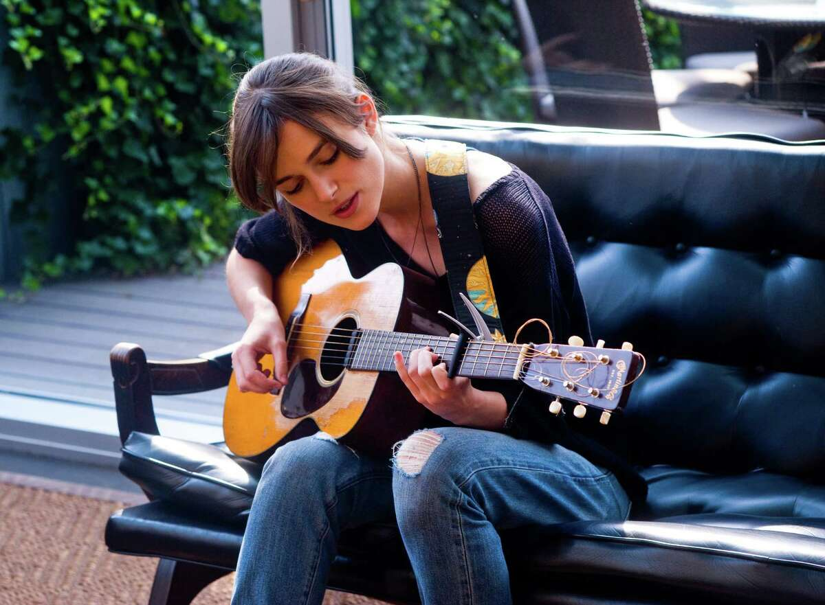 "Keira Knightley stars as a struggling musician in ""Begin Again."""