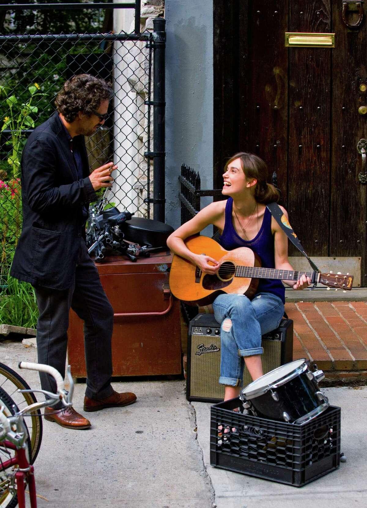 """(L-R) MARK RUFFALO and KEIRA KNIGHTLEY star in """"Begin Again"""""""