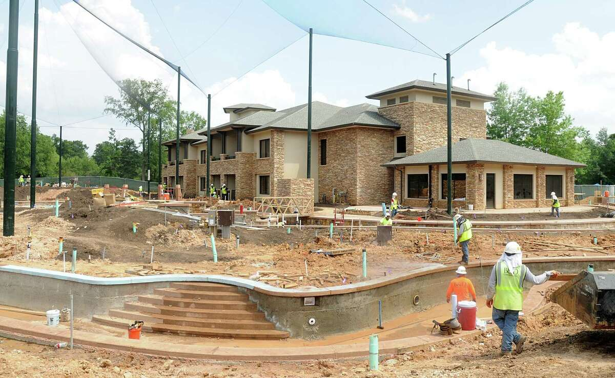 Guests rooms will look out on the new water feature area that will include a lazy river at The Woodlands Resort and Conference Center, 2301 North Millbend Drive.