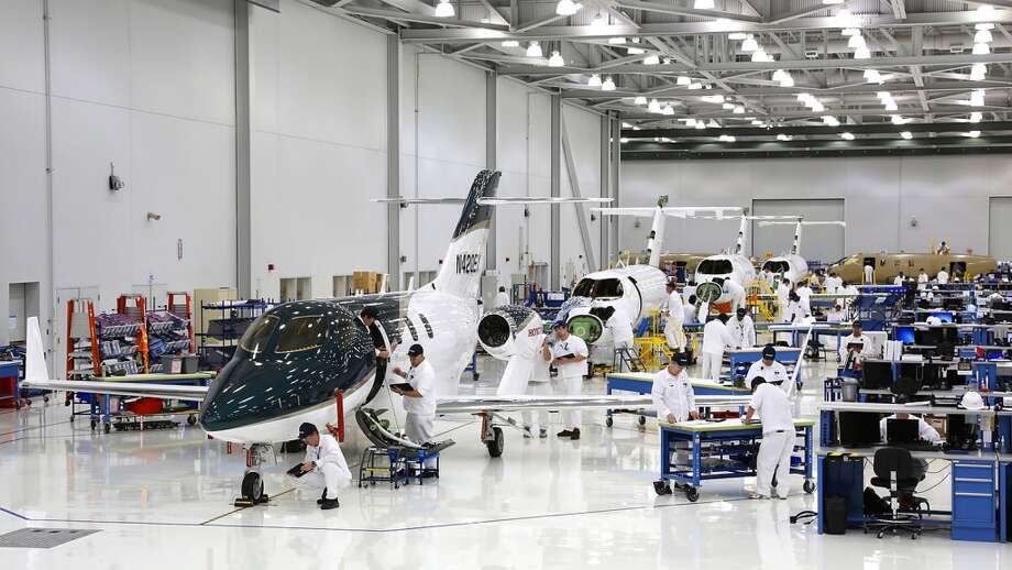 With nine HondaJets on the final assembly line, Honda Aircraft plans to have aircraft ready for delivery immediately after type certification is achieved in the first quarter of 2015. Photo: Honda, Wieck