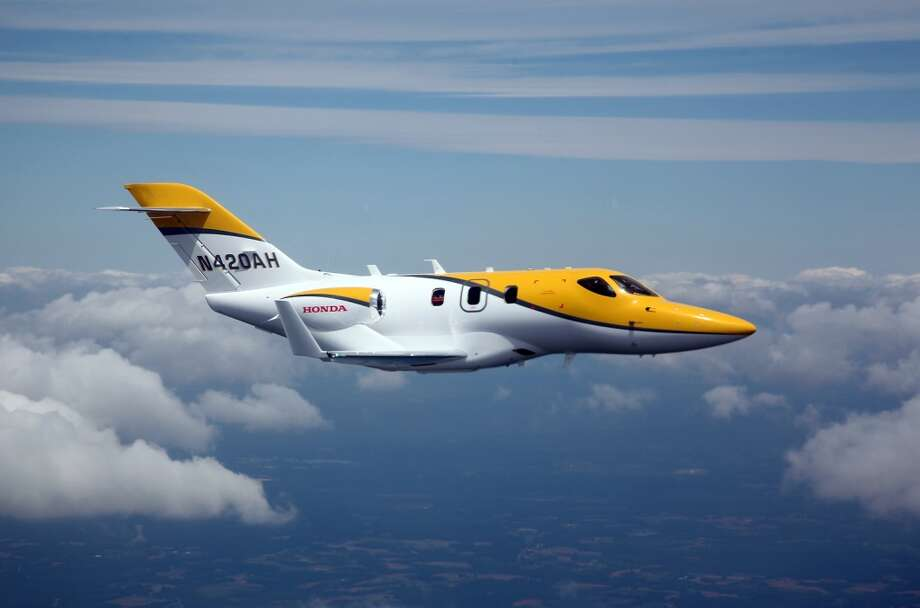 Honda Aircraft Company announced the successful first flight of F3, the fourth FAA-conforming HondaJet, seen here in the skies above the Piedmont Triad Region of North Carolina, on May 4, 2012. Photo: Honda, Wieck