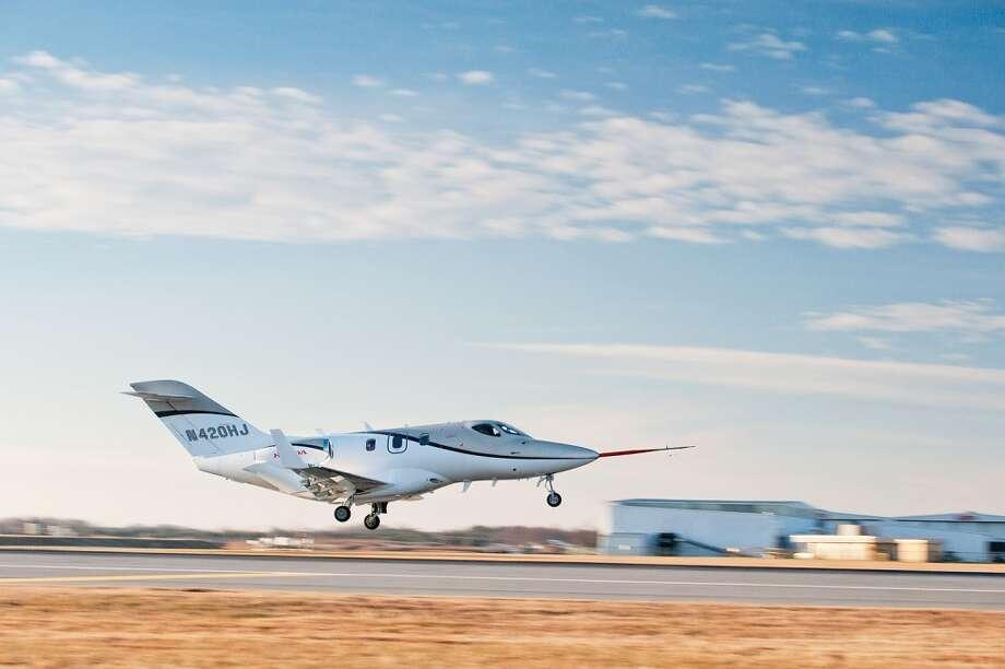 The first FAA-conforming HondaJet took to the sky on December 20, 2010, at Honda Aircraft Company's world headquarters facility in Greensboro, North Carolina. Photo: Honda, Wieck