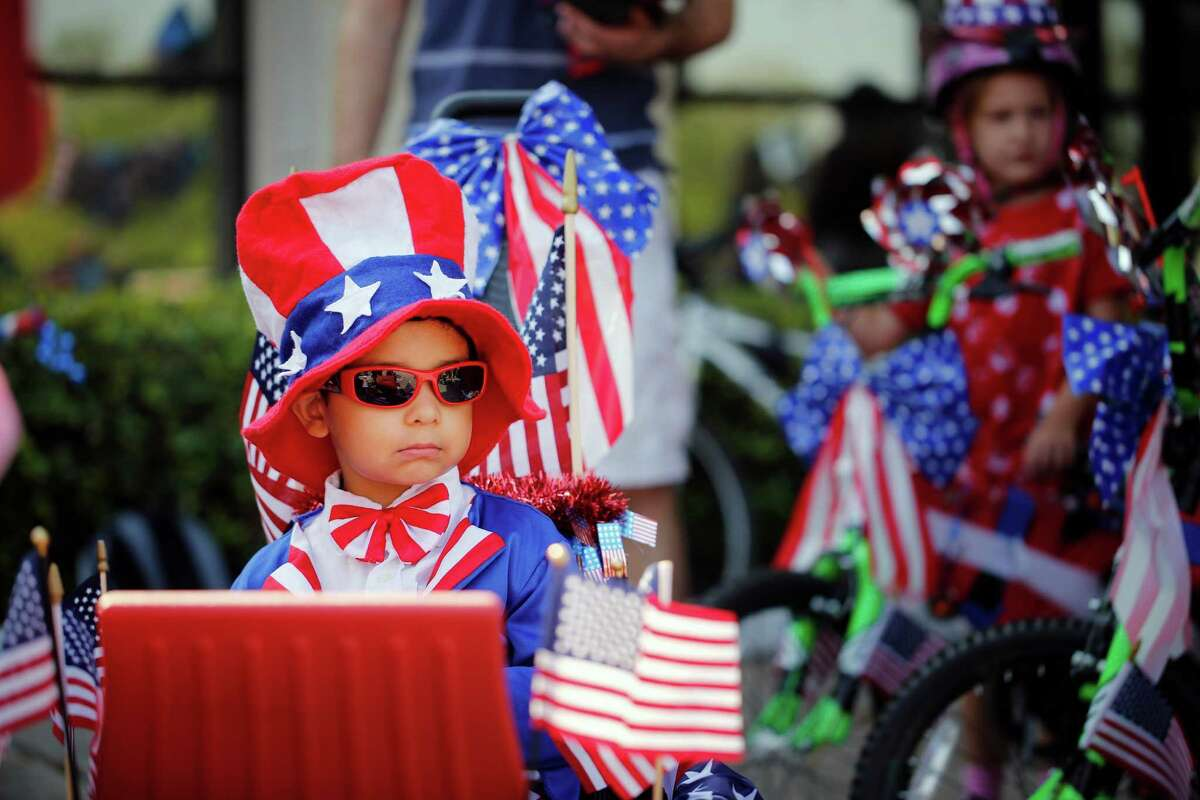 Children are a big part of Bellaire's annual Fourth of July parade. Many dress for the occasion, such as Gabriel Cruz, above, at last year's event.