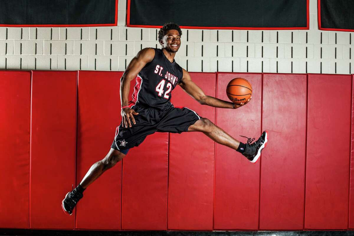 St. John's School basketball player, Justise Winslow, poses for a portrait at the school's gym Saturday March 15, 2014. The senior was named the Chronicle's All Greater-Houston boys basketball player of the year and will be playing basketball at Duke University next season. (Michael Starghill, Jr.)