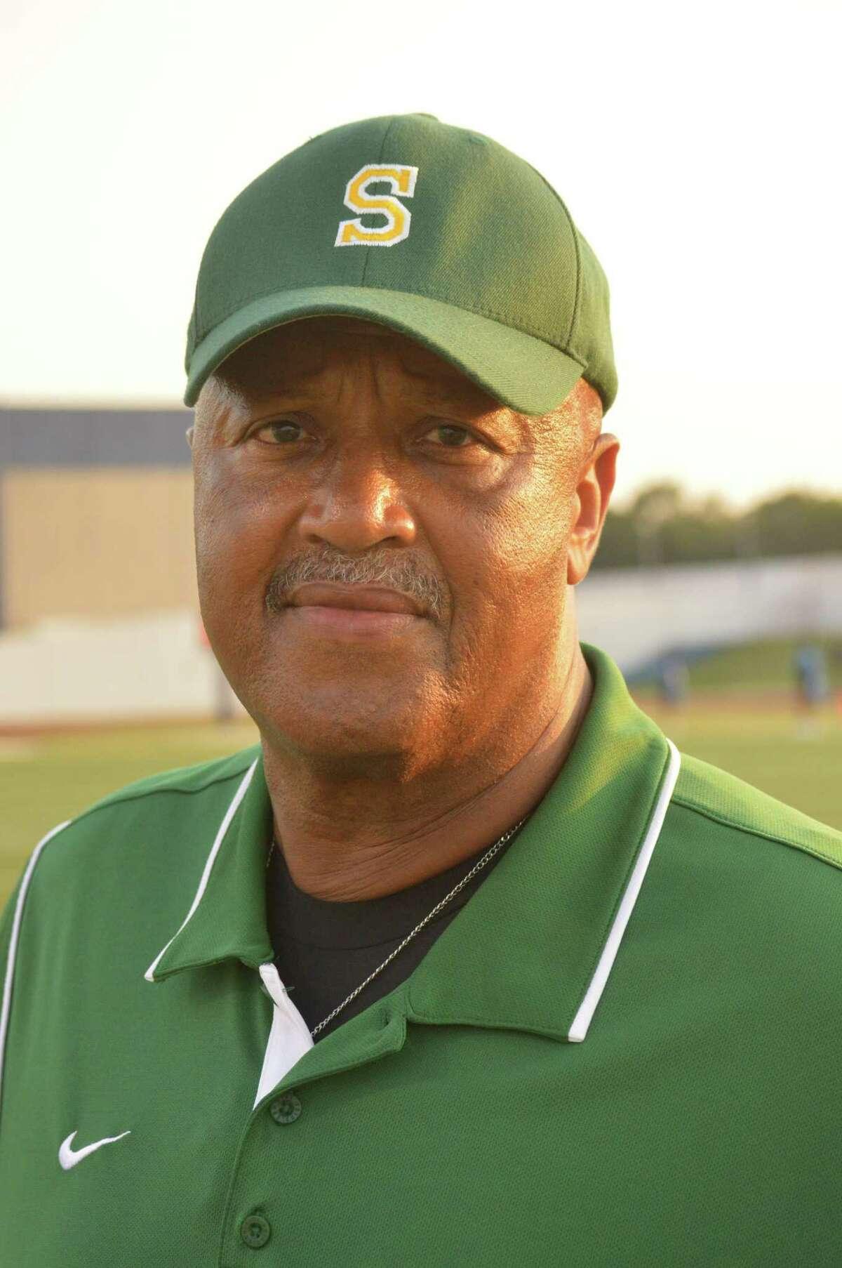 Charles Perridon coach of the Sharpstown High School football team.