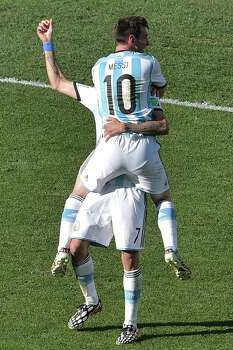 July 1Argentina 1, Switzerland 0 (extra time) Photo: GABRIEL BOUYS, AFP/Getty Images / AFP