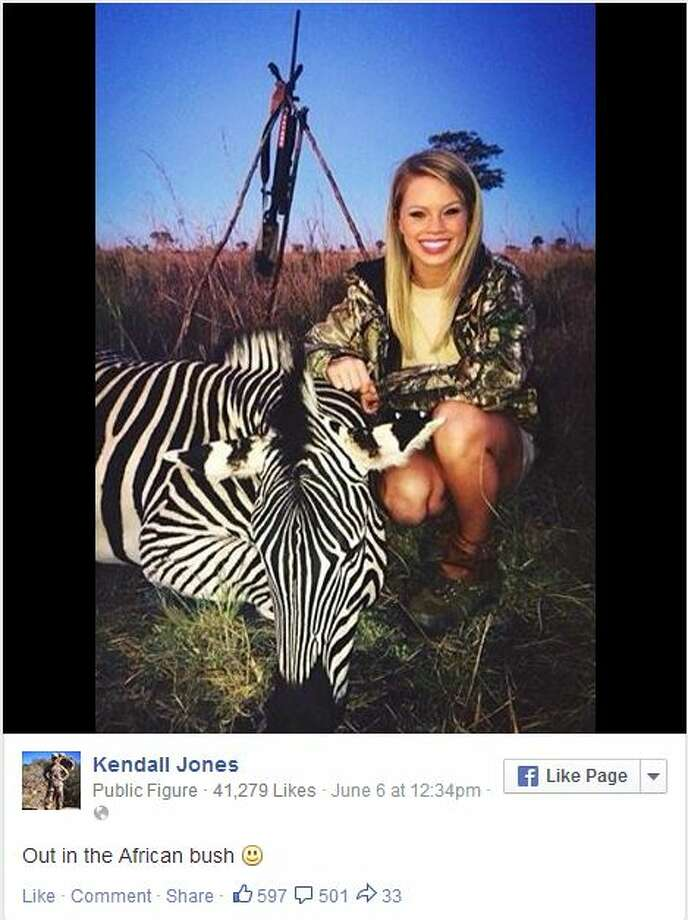 Screen grab from Kendall Jones' Facebook page Photo: Kendall Jones