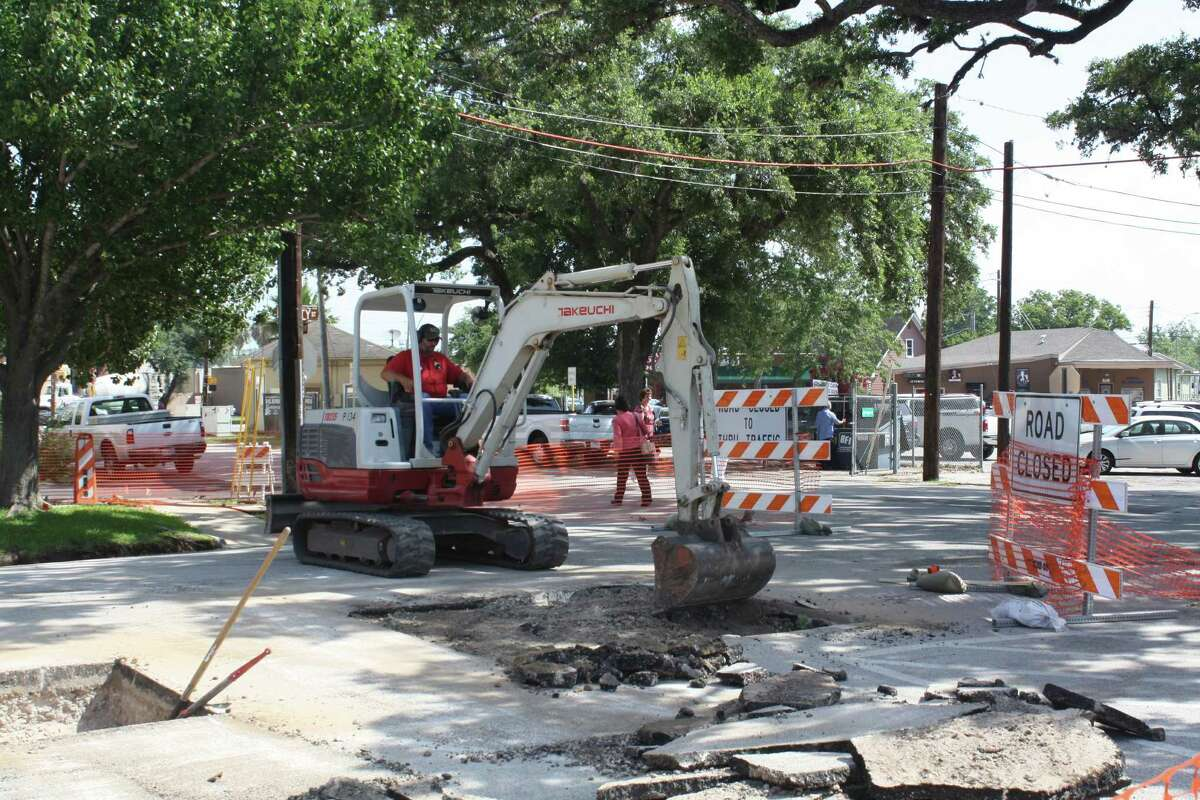 Construction started June 16 on the pedestrian plaza.Construction started June 16 on the pedestrian plaza.
