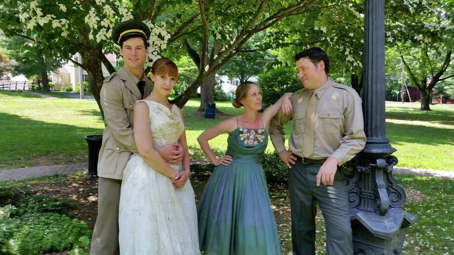 "The Valley Shakespeare Festival is launching its second season with ""Much Ado About Nothing"" in Shelton's Veterans Memorial Park July 10 to 12. Playing the two star-crossed couples are (from left) Travis Czap, Jess Breda, Megan Emery Gaffney and Colin Ryan. Photo: Contributed Photo / Connecticut Post Contributed"