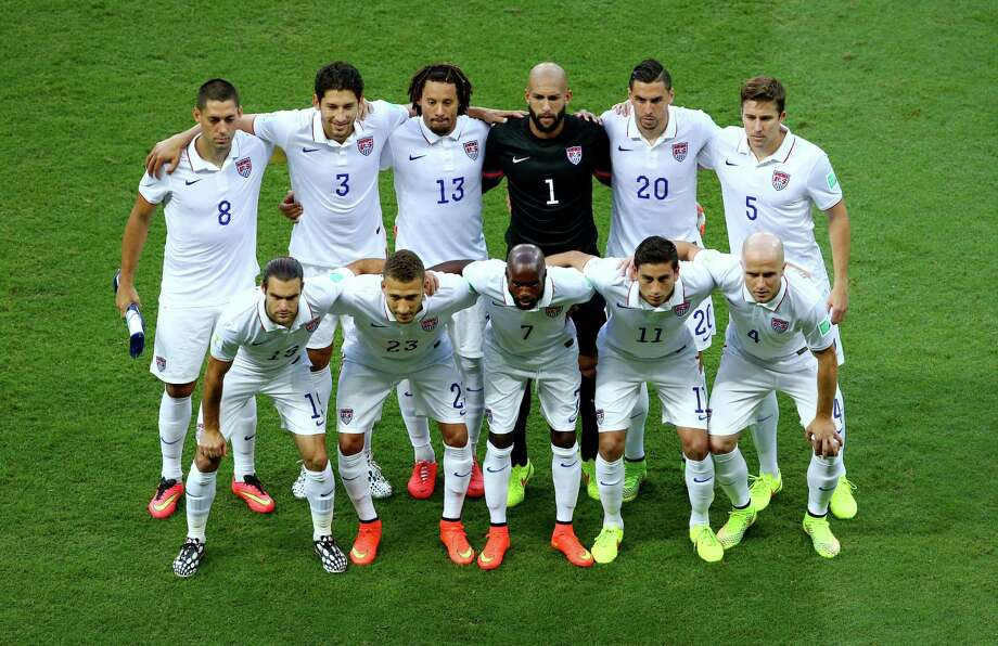 SALVADOR, BRAZIL - JULY 01:  United States players pose for a team photo prior to the 2014 FIFA World Cup Brazil Round of 16 match between Belgium and the United States at Arena Fonte Nova on July 1, 2014 in Salvador, Brazil. Photo: Robert Cianflone, Getty Images / 2014 Getty Images