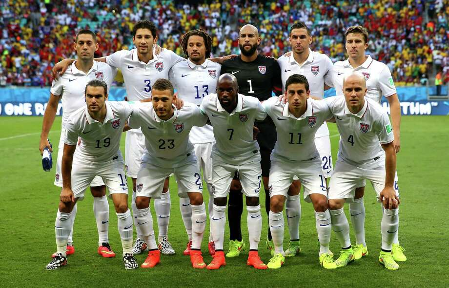 SALVADOR, BRAZIL - JULY 01:  United States players pose for a team photo prior to the 2014 FIFA World Cup Brazil Round of 16 match between Belgium and the United States at Arena Fonte Nova on July 1, 2014 in Salvador, Brazil. Photo: Kevin C. Cox, Getty Images / 2014 Getty Images