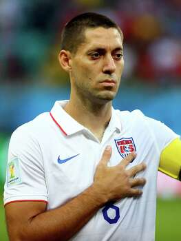 SALVADOR, BRAZIL - JULY 01:  Clint Dempsey of the United States looks on during the National Anthem prior to the 2014 FIFA World Cup Brazil Round of 16 match between Belgium and the United States at Arena Fonte Nova on July 1, 2014 in Salvador, Brazil. Photo: Kevin C. Cox, Getty Images / 2014 Getty Images