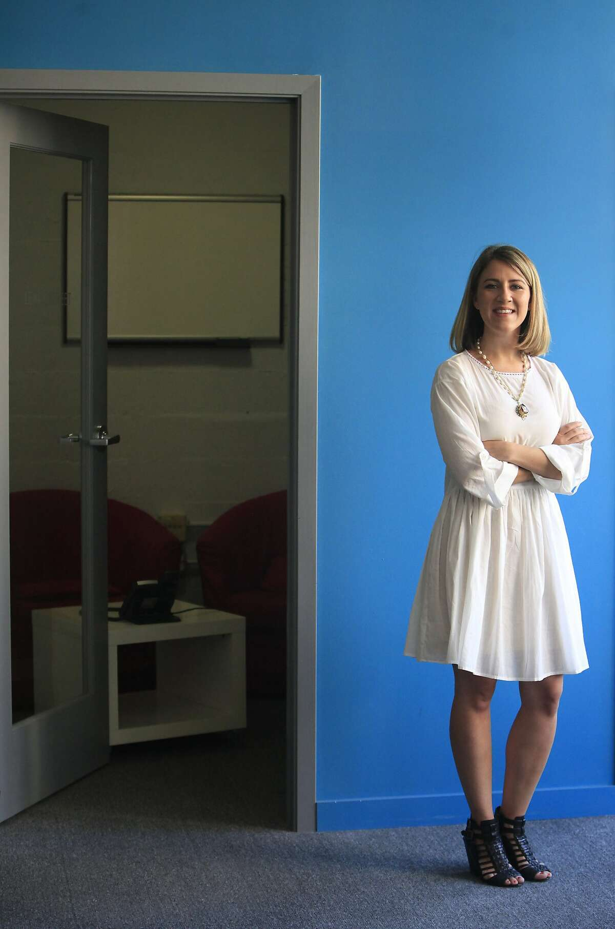 Clara Brenner, CEO and co-founder Tumml, stands in the Tumml office on Monday, June 9, 2014 in San Francisco, Calif.