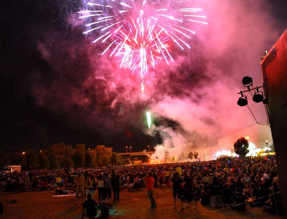 UPDATE: The annual Derby-Shelton dueling fireworks display has been moved to Saturday, July 5, because of fireworks in the forecast for Thursday night. Photo: Christian Abraham