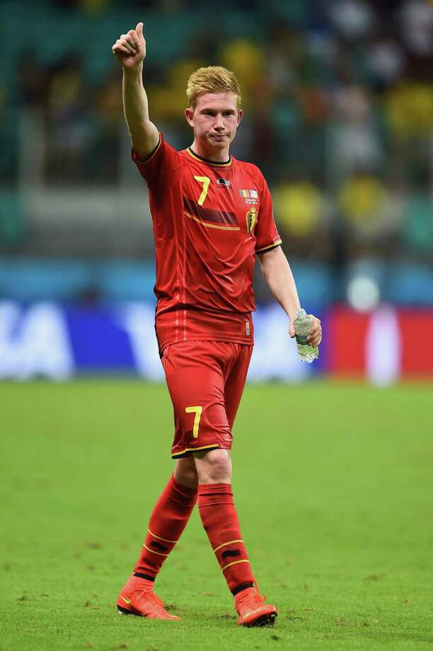 Kevin De Bruyne, Manchester CityPosition: MidfieldAge: 26Country: BelgiumDe Bruyne played spoiler against the U.S. men's national team at the 2014 World Cup, ending the Americans' run with a game-winning goal in extra time of a Round of 16 match. The skilled playmaker signed a six-year deal with Manchester City in 2015 and led the English Premier League with 18 assists this past season.   Photo: Laurence Griffiths, Getty Images / 2014 Getty Images
