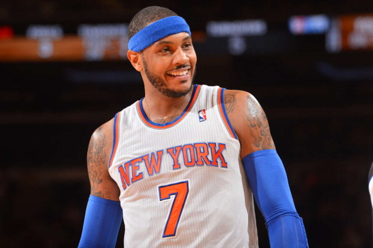 Seven-time NBA All-Star Carmelo Anthony is one of the Rockets' top free agent targets this summer. Here's a look back at his hoops career.