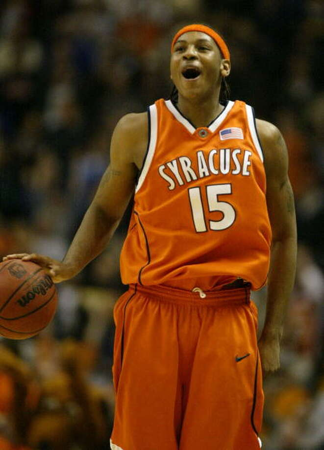CollegeIn his lone college season, Anthony powered Syracuse to the 2003 national championship. Photo: Al Bello, Getty Images / 2003 Getty Images
