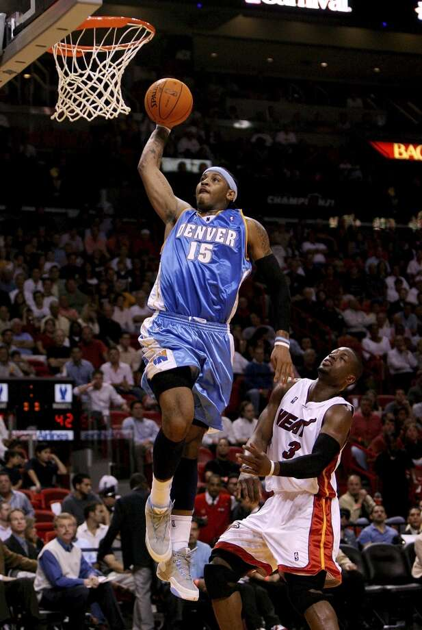 2006-07 seasonScoring a career-high 28.9 points per game, Anthony was named to his first All-Star Game. Photo: Doug Benc, Getty Images