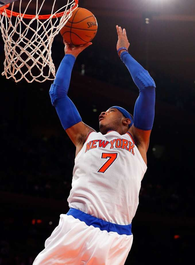 2013-14 season  Anthony had another strong season (27.4 points per game), but his Knicks didn't as he missed the postseason for the first time in his career. Photo: Jim McIsaac, Getty Images