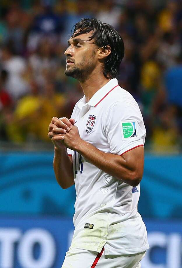 SALVADOR, BRAZIL - JULY 01:  Chris Wondolowski of the United States reacts after a missed chance during the 2014 FIFA World Cup Brazil Round of 16 match between Belgium and the United States at Arena Fonte Nova on July 1, 2014 in Salvador, Brazil.  (Photo by Kevin C. Cox/Getty Images) Photo: Kevin C. Cox, Getty Images