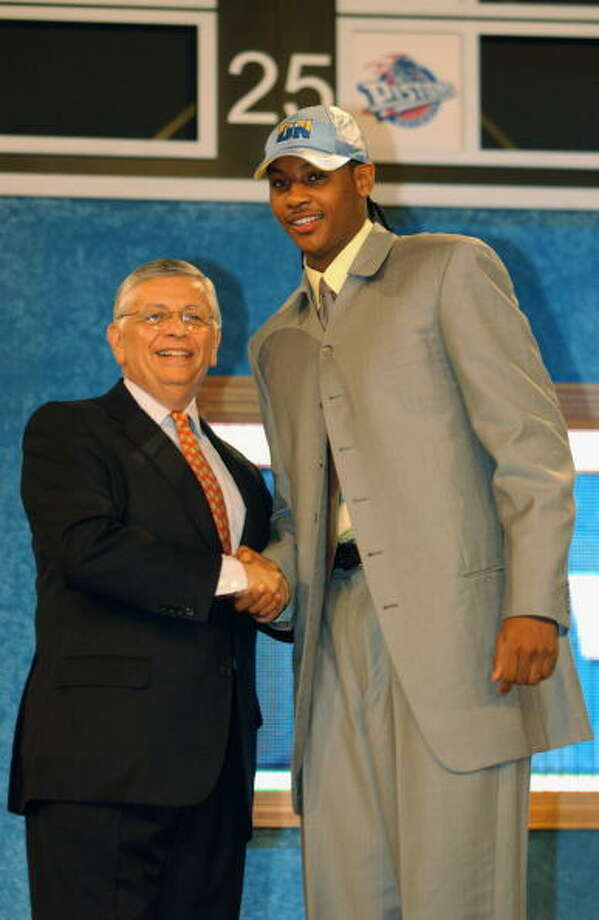 2003 NBA draft  The Denver Nuggets selected Anthony with the No. 3 overall pick in the 2003 NBA draft. Photo: Jesse D. Garrabrant, NBAE/Getty Images / 2003 NBAE