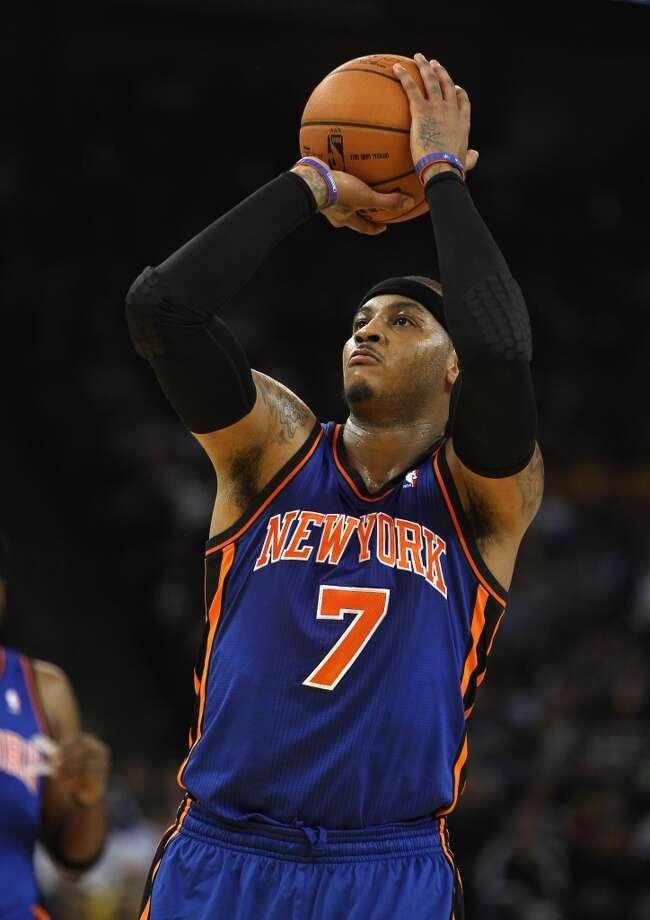 2011-12 season  In his first full season in New York, Anthony saw his scoring average dip to 22.6 points per game. Photo: Ezra Shaw, Getty Images