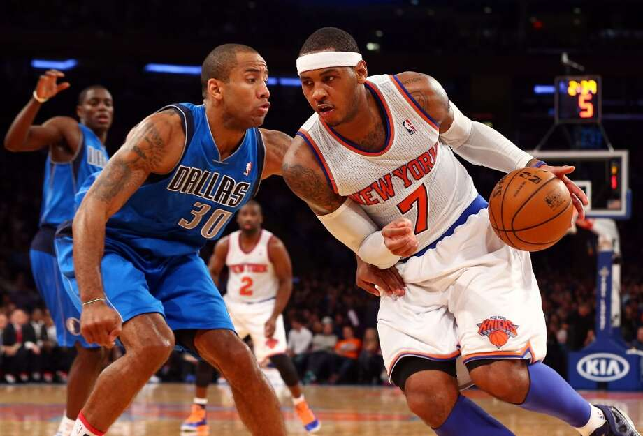 2012-13 season  Anthony averaged 28.7 points per game to win the league's scoring title as the Knicks reached the second round of the playoffs. Photo: Jim McIsaac, Getty Images