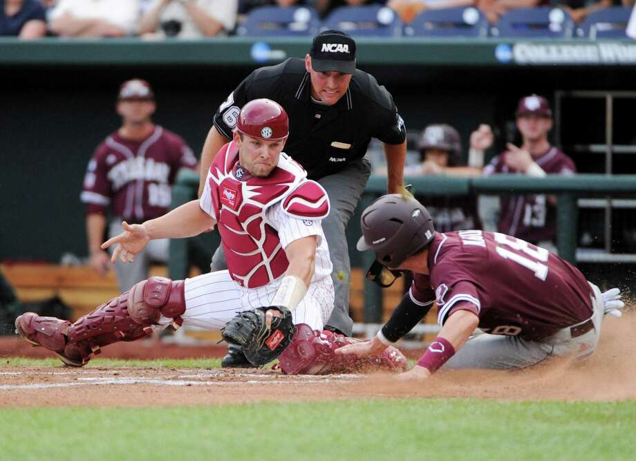 Having yet to meet in football, Texas A&M and South Carolina are hard-pressed to find meaningful games between the schools. A 2011 College World Series matchup, won by the Gamecocks 5-4, will have to suffice until the football series cranks up on Aug. 28. Photo: Eric Francis, FRE