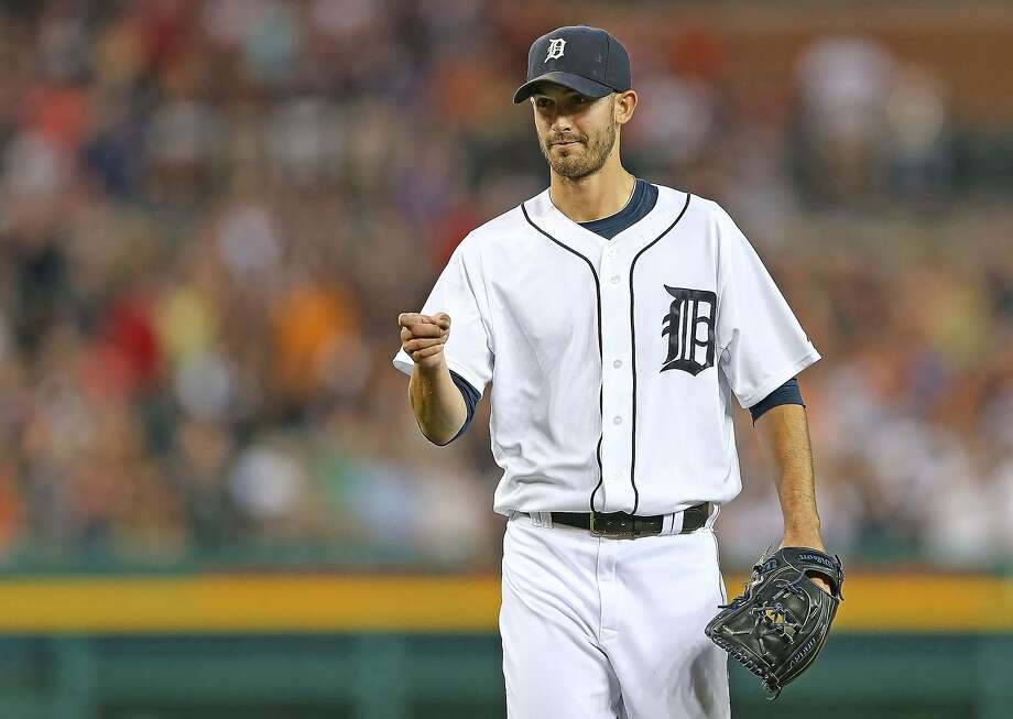 Detroit's Rick Porcello threw a rare no-strikeout, no-walk shutout against the A's. Photo: Leon Halip, Getty Images
