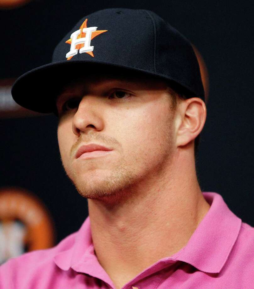 Astros prospect Derek Fisher's name was bandied about when the team traded for Ken Giles from Philadelphia.Click through the gallery to see photos from this year's spring training in Florida. Photo: Karen Warren, Houston Chronicle / © 2014 Houston Chronicle