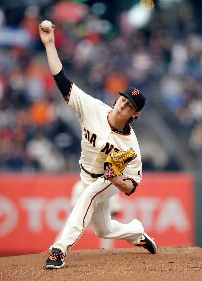 Starter Tim Lincecum pitched eight shutout innings against St. Louis. Photo: Ezra Shaw, Getty Images