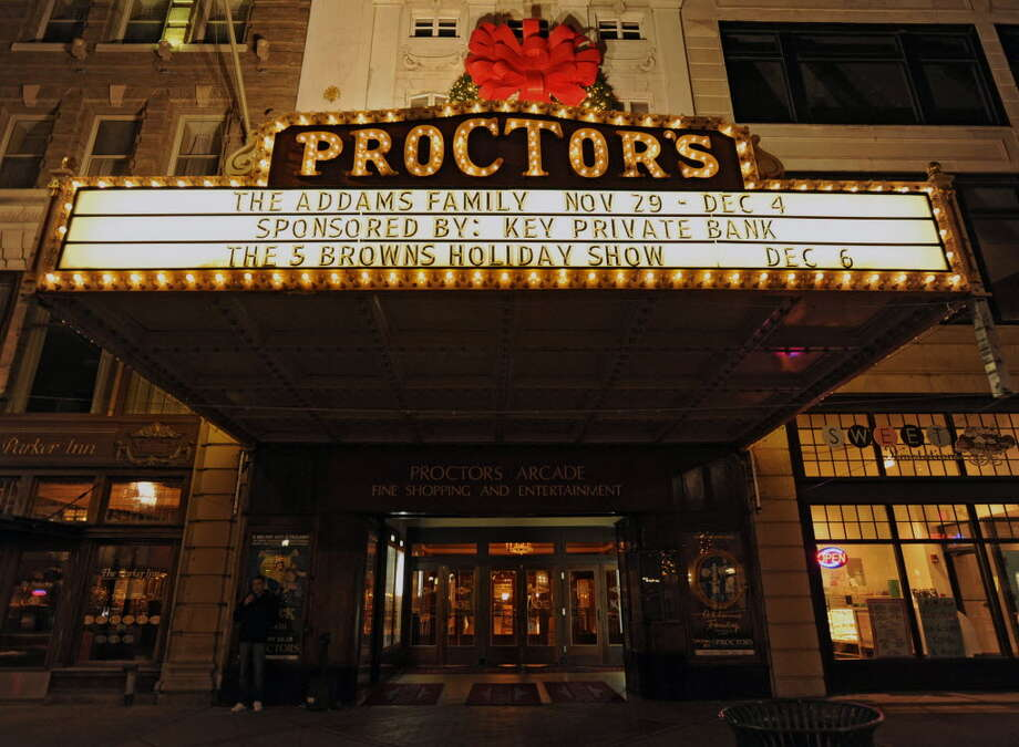 The marquee at Proctors will soon be renovated. (File photo)