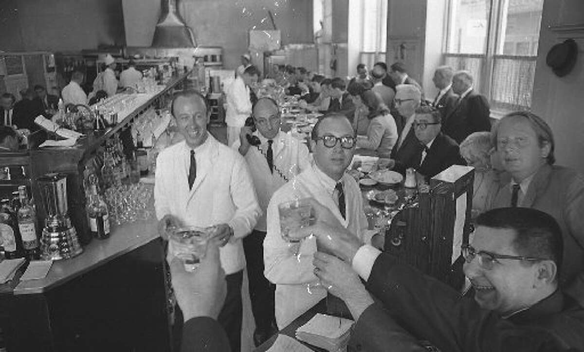 Owners Steve Buich (left) and Bob Buich at the closing of their old location on Clay Street on July 14, 1967.