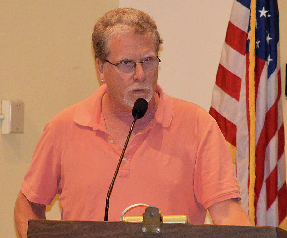 Representative Town Meeting member Matthew Mandell, District 1, made several requests of the Board of Education Tuesday night for more information on what additional security measures the board plans to seek money for in the future. Photo: Jarret Liotta / Westport News