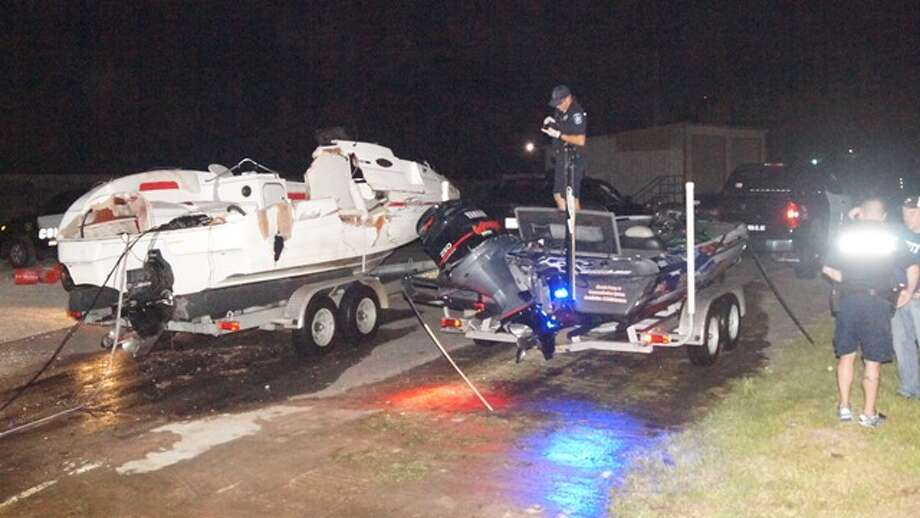 Montgomery County authorities are searching for an adult woman after two men in a bass boat collided with a pleasure boat with eight people aboard about 9 p.m. Tuesday. For more, see Montgomery County Police Reporter. Photo: Scott Engle / Montgomery County Police Reporter