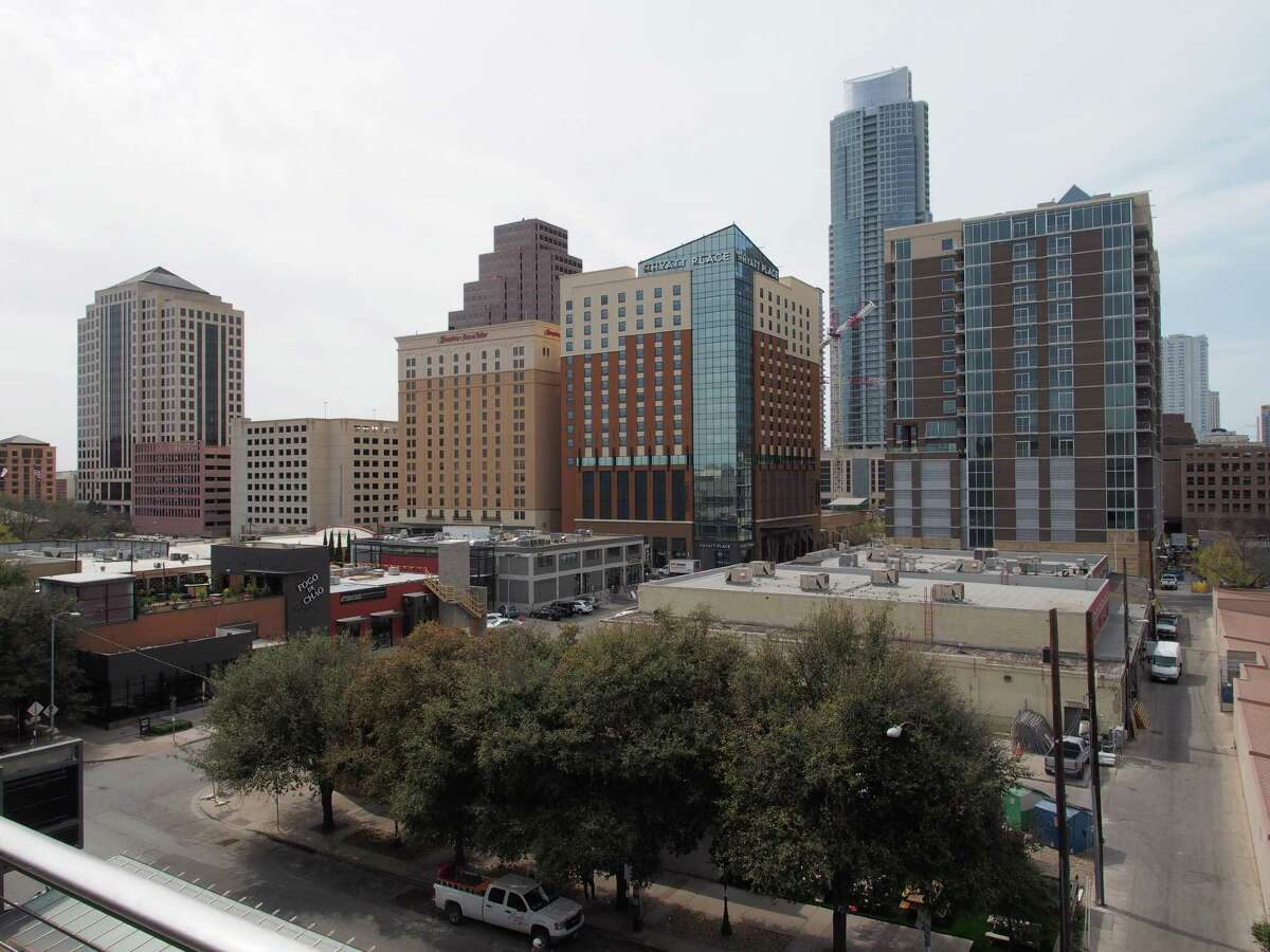 General view of downtown Austin, Texas from the balcony of the Austin Convention Center on Thursday March 7, 2012 on the eve of the opening of the 27th South By Southwest (SXSW) interactive, film and music festival. The 10-day event is a magnet for thousands of technology innovators, independent film-makers and up-and-coming musical performers. AFP PHOTO / Robert MacPhersonRobert MacPherson/AFP/Getty Images