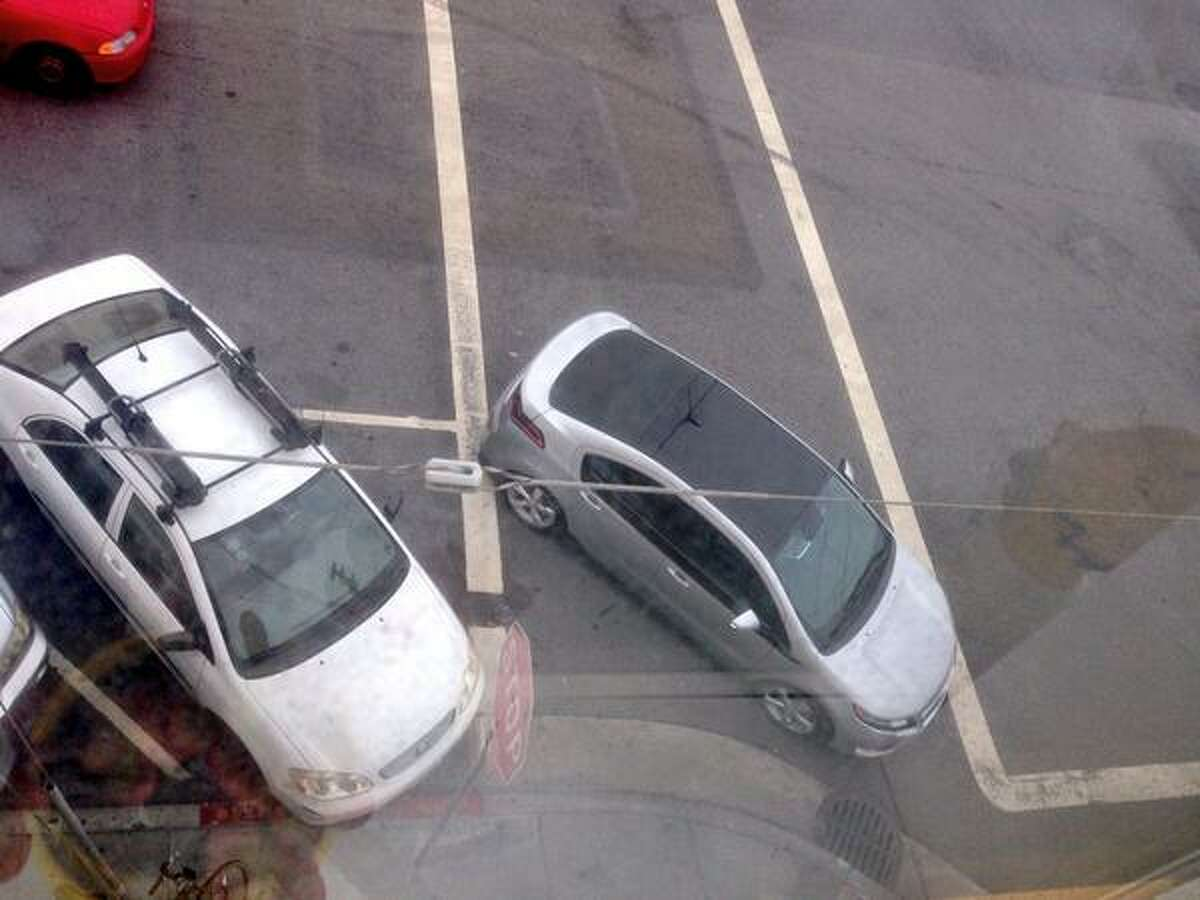 Mayor Ed Lee's car parked in the crosswalk in San Francisco.